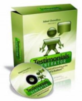 Product picture *Brand New*Testimonials Generator