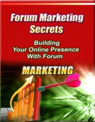 Product picture **Brand New Forum Marketing Secrets**