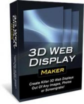 Product picture **Brand New 3D Web Display Maker**