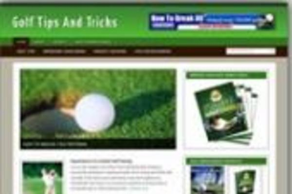 Product picture **New Monitized Golf Blog Template**