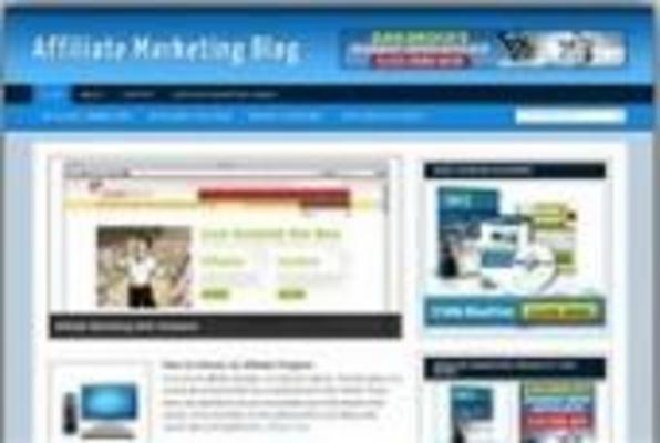 Product picture **New Affiliate Marketing Wordpress Blog Template**